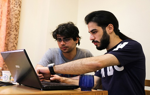 Two Students are learning something