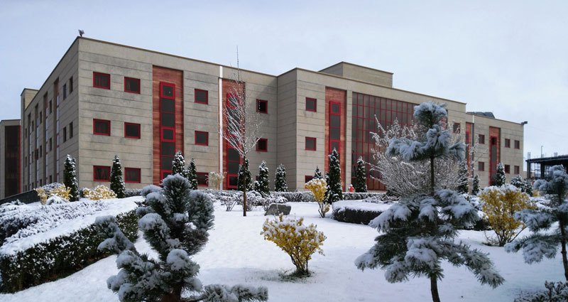 Physics Building in Winter