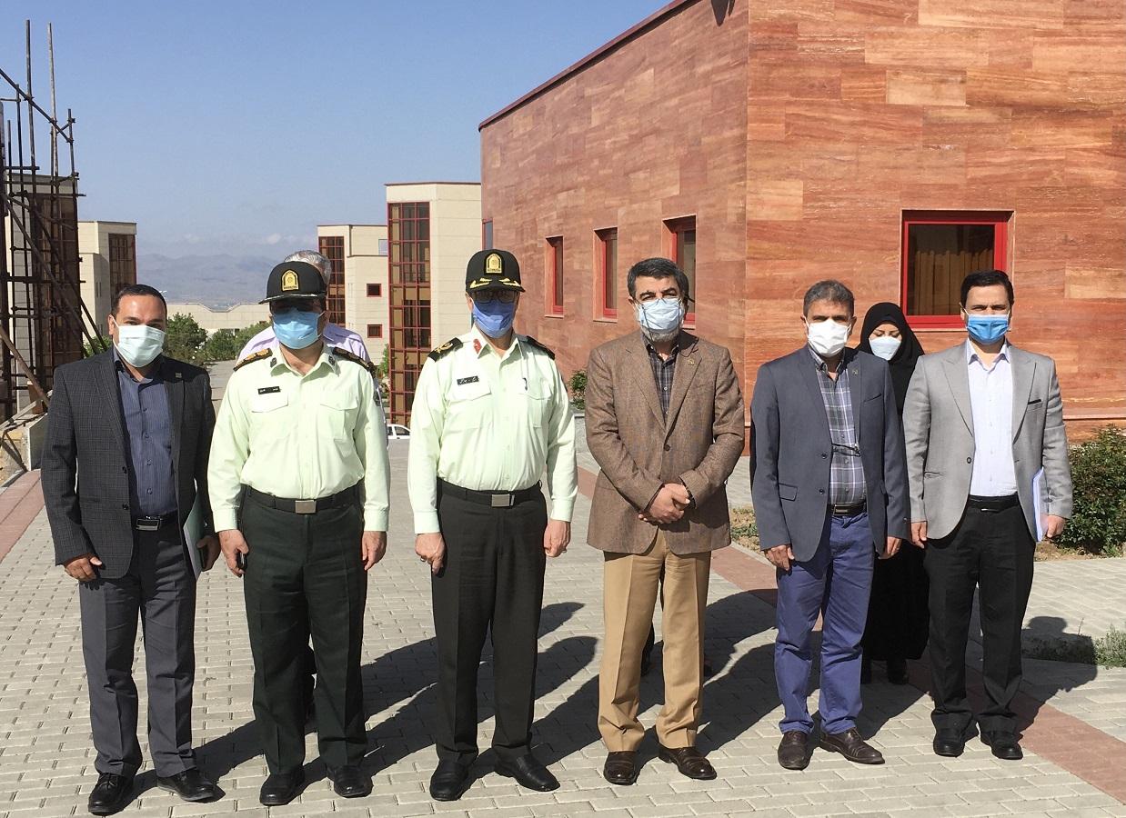 Zanjaan Province's Police Chief meets with IASBS President