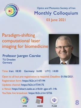 Prof Juergen Czarske speaks in 8th OPSI monthly e-colloquium