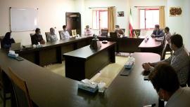 Members from Board of Trustees of Zanjaan's bazaar meet IASBS President