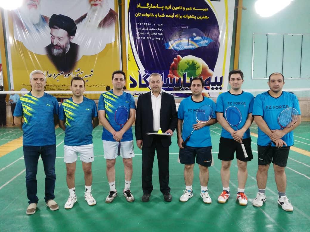 کارکنان دانشگاه موفق به کسب مقام اول مسابقات تیمی و تک نفره بدمینتون مردان استان زنجان شدند