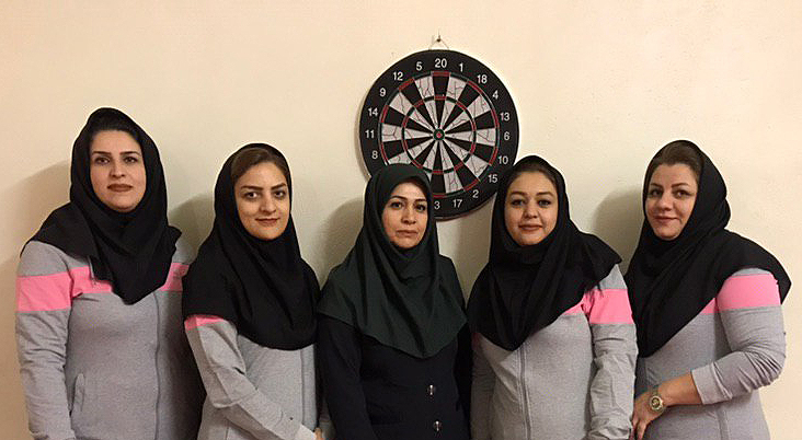IASBS staff have ranked first in Women's Teams Darts Competitions in Zanjan Province